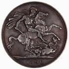 Crown 1896: Photo Coin - Crown, Queen Victoria, Great Britain, 1896