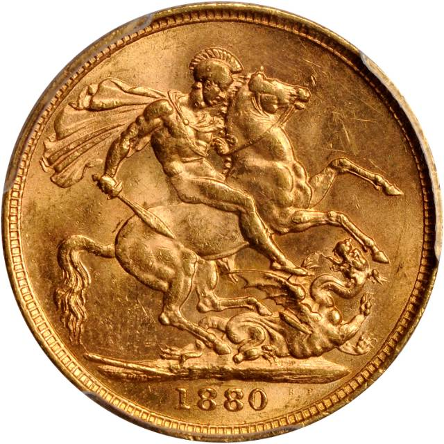 Sovereign 1880 St George: Photo Great Britain 1880 sovereign