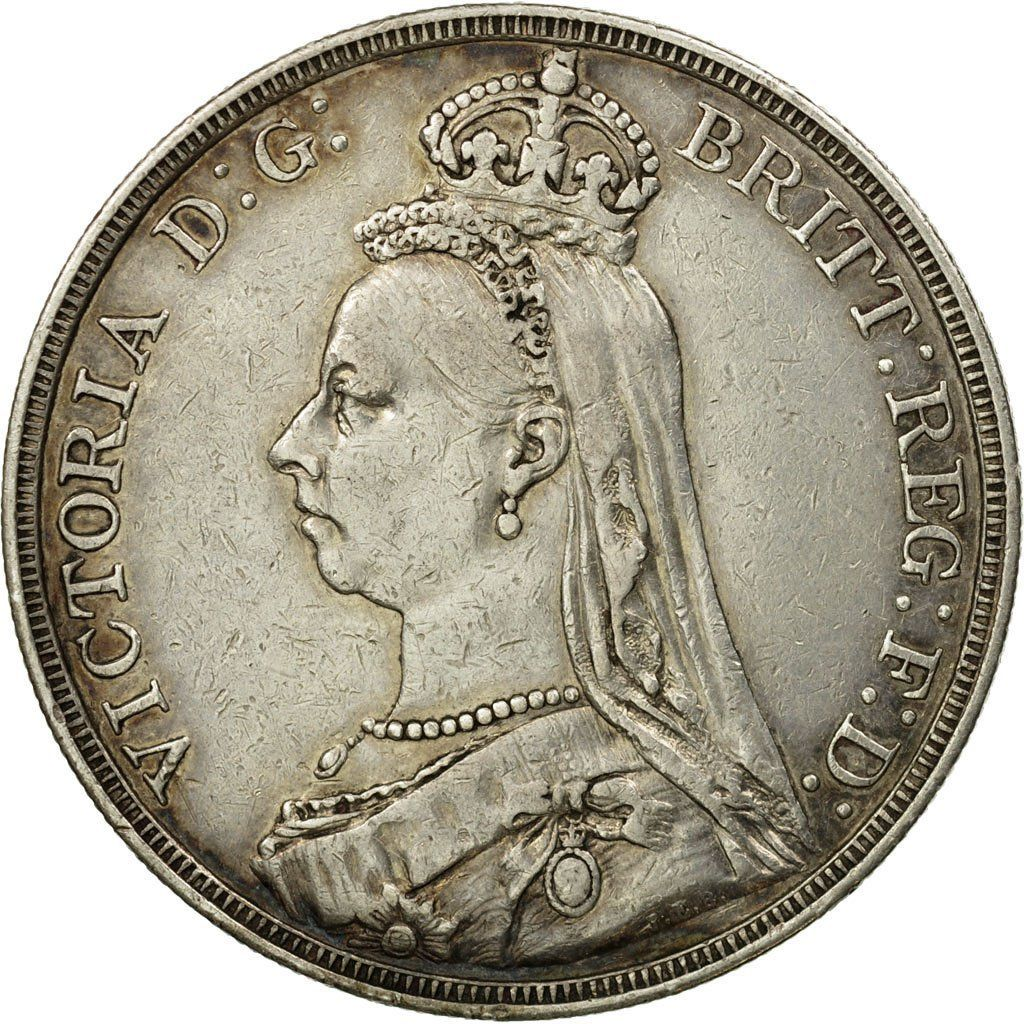 Crown 1888: Photo Coin, Great Britain, Victoria, Crown, 1888