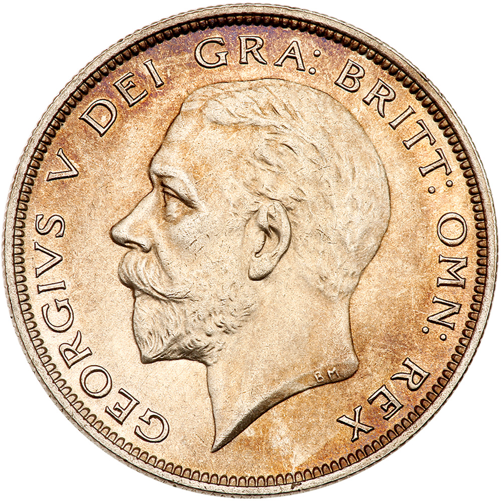 Halfcrown George V (0.500 Silver, Second Issue): Photo Great Britain 1930 half crown