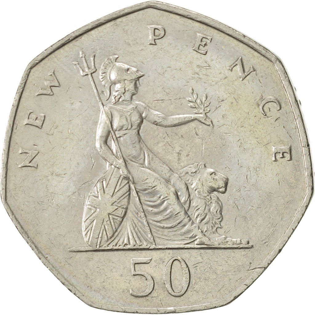 Fifty Pence 1976: Photo Great Britain, Elizabeth II, 50 New Pence, 1976