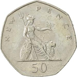 United Kingdom / Fifty Pence 1976 - reverse photo