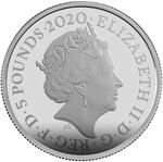 United Kingdom / Silver Two Ounces 2020 James Bond, Pay Attention - obverse photo