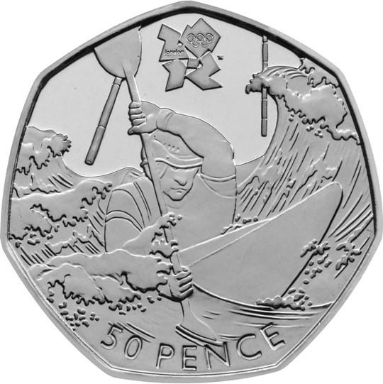 Fifty Pence 2011 - London 2012 - Canoeing: Photo London 2012 Canoeing Coin