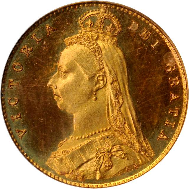 Half Sovereign (Pre-decimal, Shield): Photo Great Britain 1887 1/2 sovereign