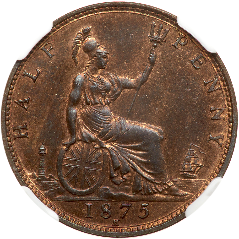 Halfpenny 1875: Photo Great Britain 1875-H half penny