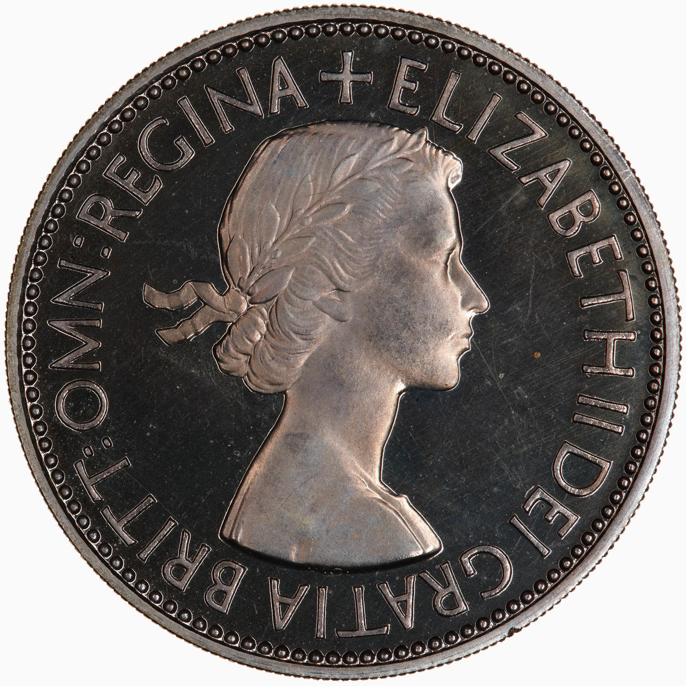 Two Shillings (Florin) 1953: Photo Proof Coin - Florin, Elizabeth II, Great Britain, 1953