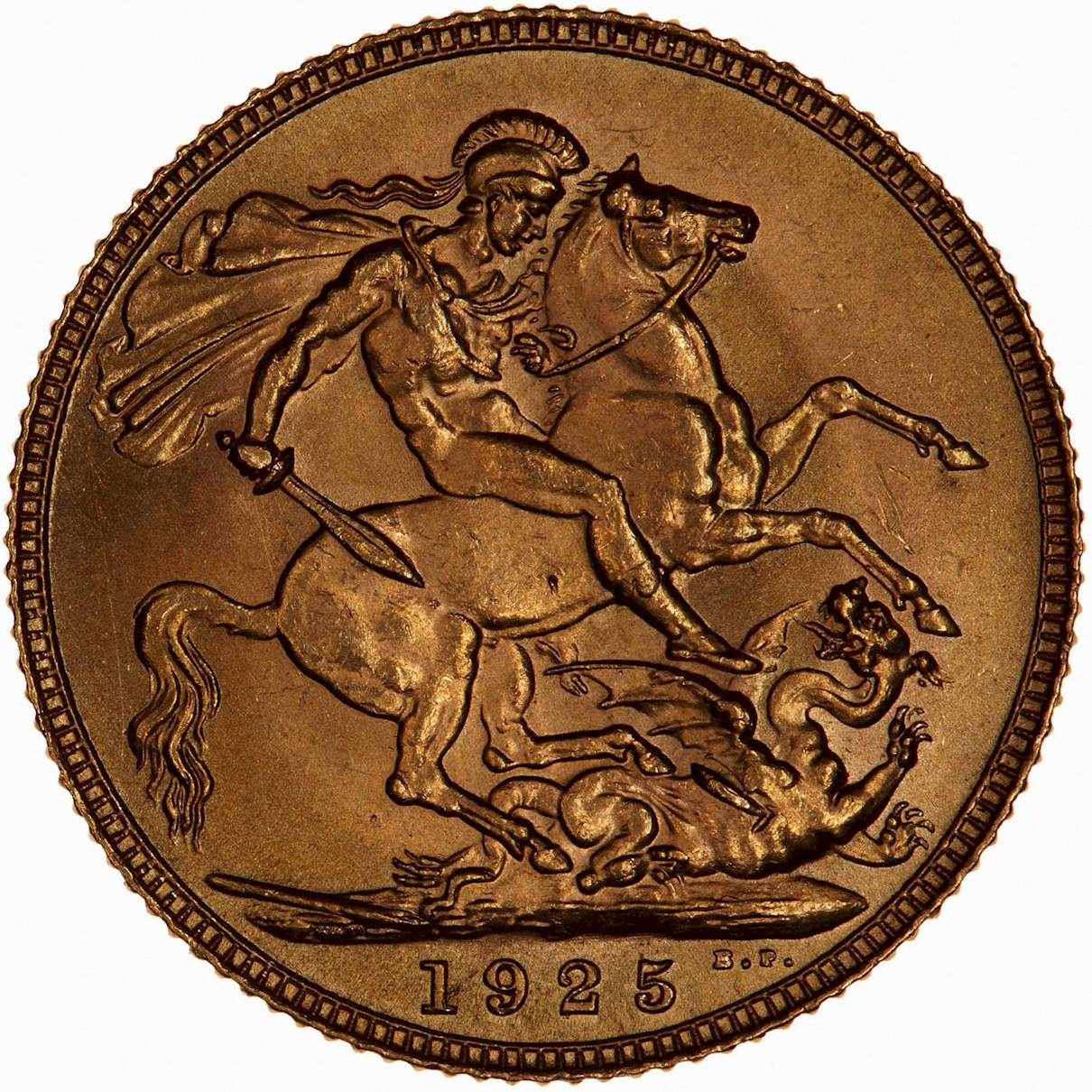 Sovereign 1925: Photo Coin - Sovereign, George V, Great Britain, 1925