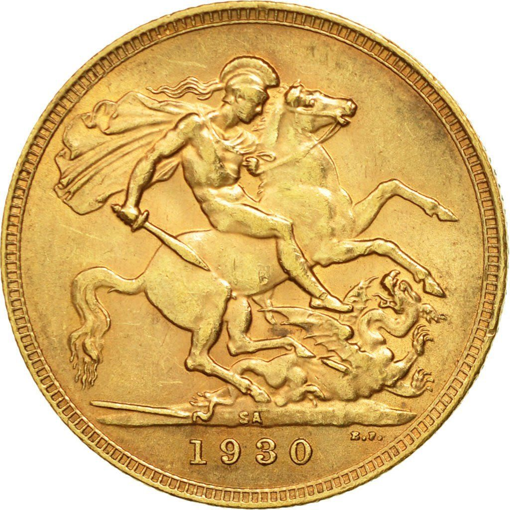 Sovereign 1930: Photo South Africa, George V, Sovereign, 1930
