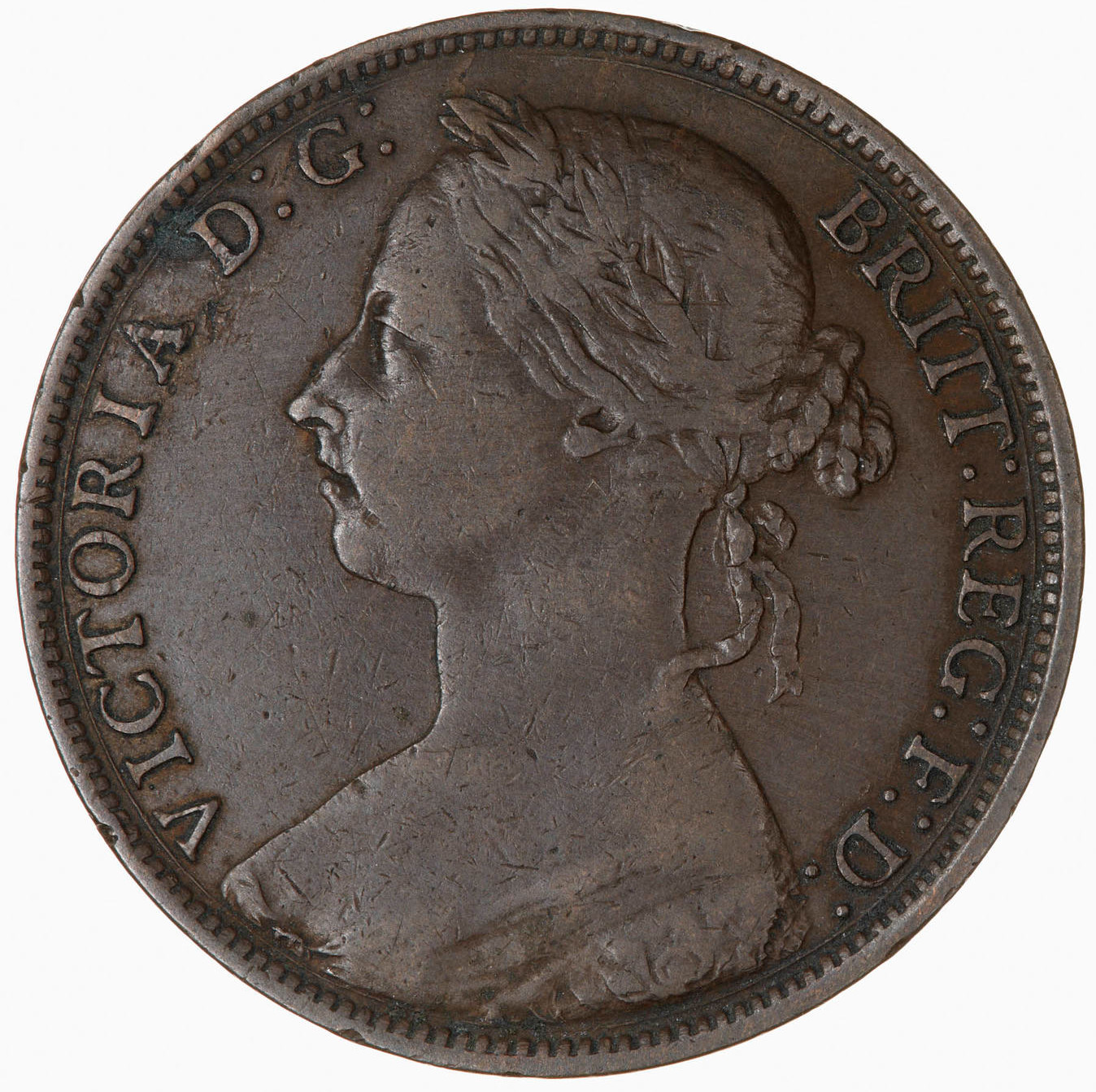 Penny 1886: Photo Coin - Penny, Queen Victoria, Great Britain, 1886