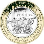 United Kingdom / Two Pounds 2004 Trevithick - reverse photo