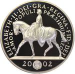 United Kingdom / Five Pounds 2002 Golden Jubilee - obverse photo