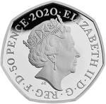 United Kingdom / Fifty Pence 2020 Brexit / Silver Proof FDC - obverse photo