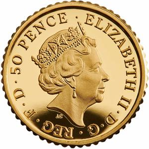 United Kingdom / Gold Fortieth-Ounce (1/40 oz) - obverse photo