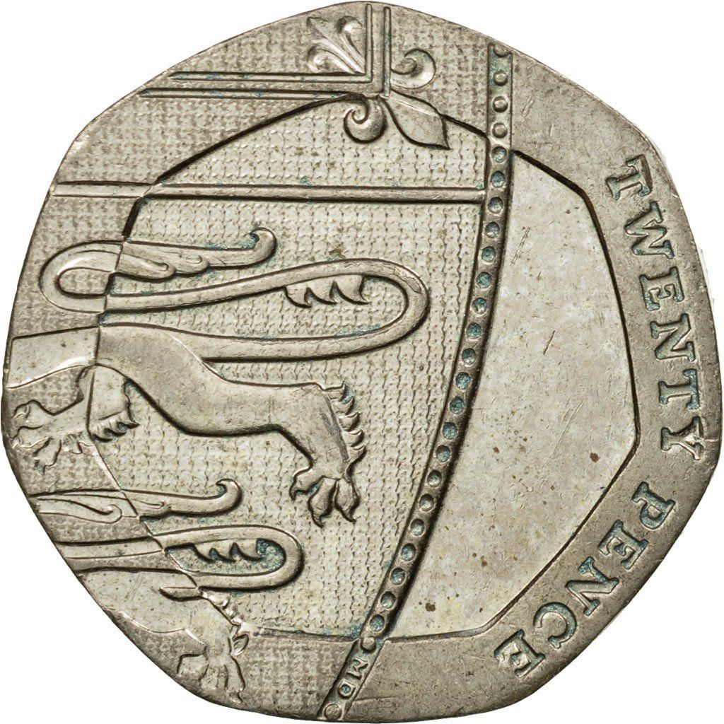 20 pence coin