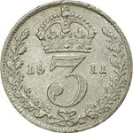 United Kingdom / Threepence 1911 (Circulating) - reverse photo