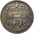 United Kingdom / Threepence 1839 (Circulating) - reverse photo