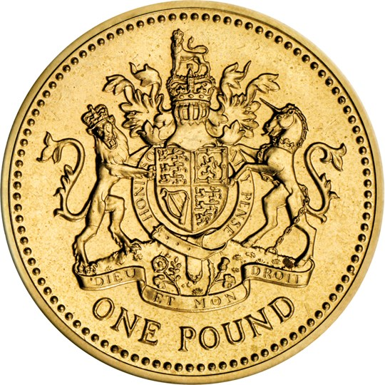 One Pound 2003 Royal Arms: Photo 1983 Royal Arms One Pound Coin | The Royal Mint