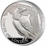 United Kingdom / Five Pounds 2019 Legend of the Ravens / Silver Proof Piedfort - reverse photo