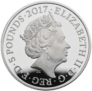 United Kingdom / Five Pounds 2017 Downing Street - obverse photo