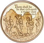 United Kingdom / Five Pounds 2016 Poetry and Language / Gold Proof FDC - reverse photo