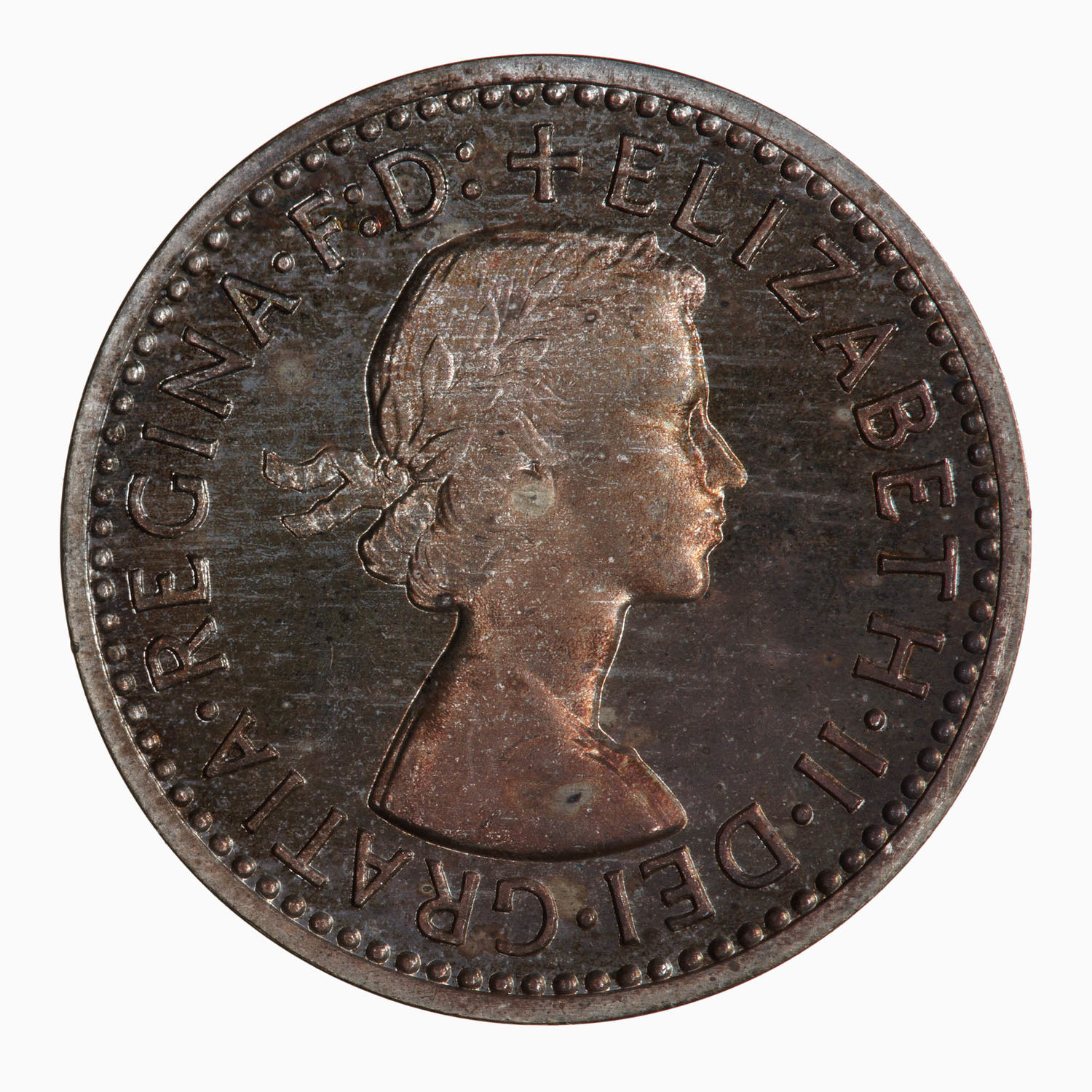 Maundy Fourpence (Pre-decimal): Photo Coin - Groat (Maundy), Elizabeth II, Great Britain, 1957