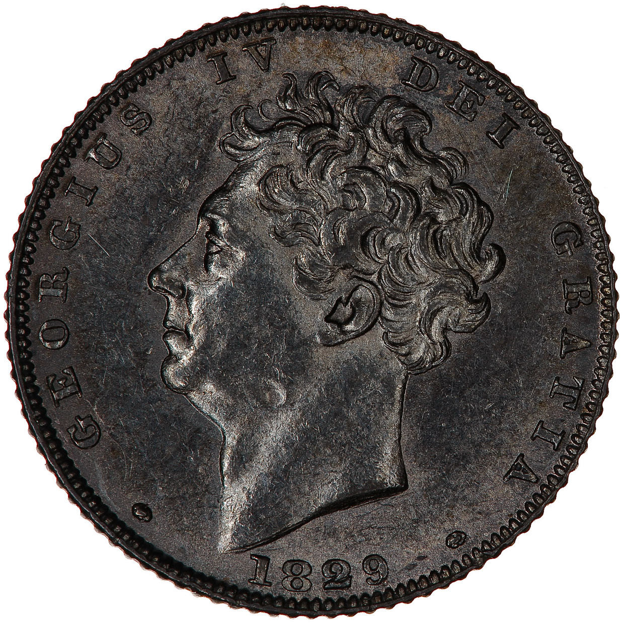 Sixpence 1829: Photo Coin - Sixpence, George IV, Great Britain, 1829