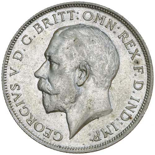 Florin 1917: Photo GEORGE V, first coinage, florin 1917