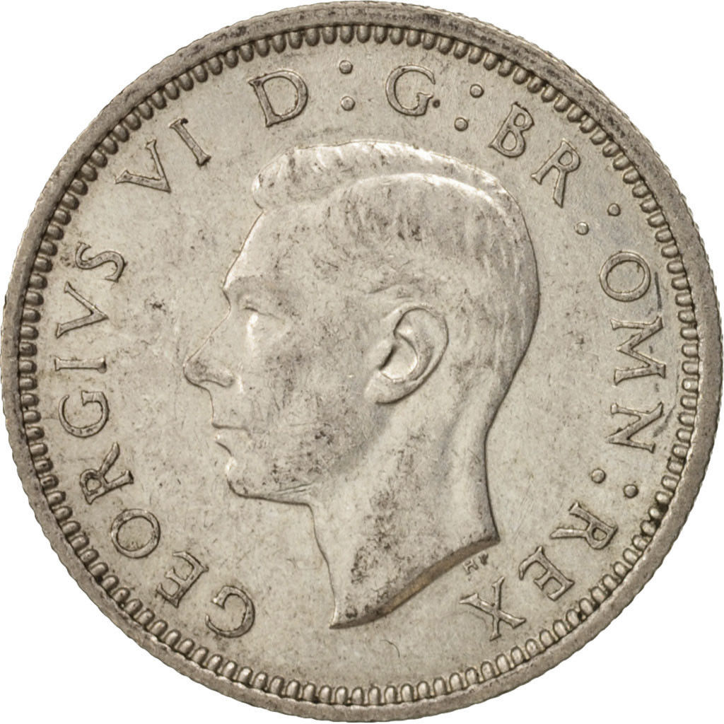 Sixpence 1941: Photo Great Britain, George VI, 6 Pence, 1941