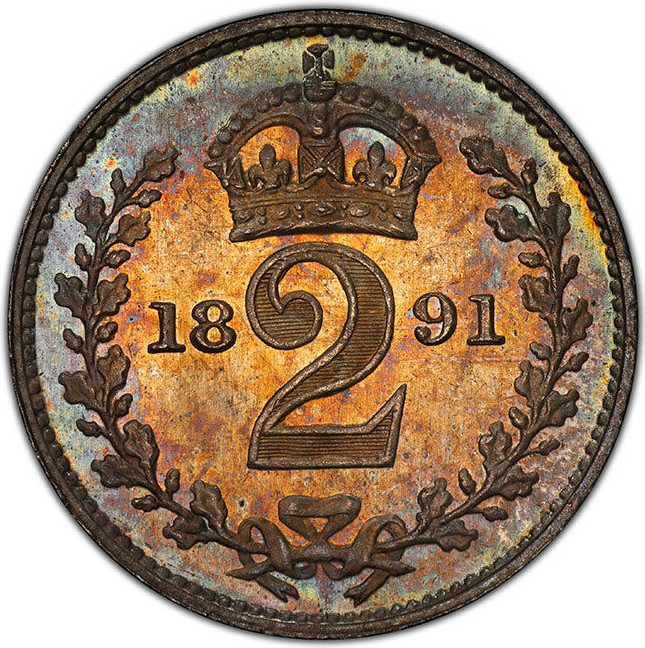 Twopence 1891 (Maundy): Photo Coin, Great Britain, Victoria, 2 Pence, 1891