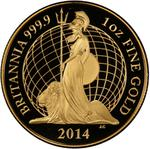 United Kingdom / Gold Ounce 2014 Britannia (Proof) - reverse photo