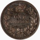 Shilling 1880: Photo Proof Coin - Shilling, Queen Victoria, Great Britain, 1880