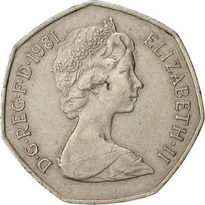 United Kingdom / Fifty Pence 1981 - obverse photo