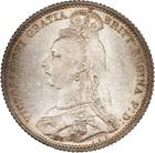 Sixpence 1887 Withdrawn Type: Photo Great Britain 1887 6 Pence