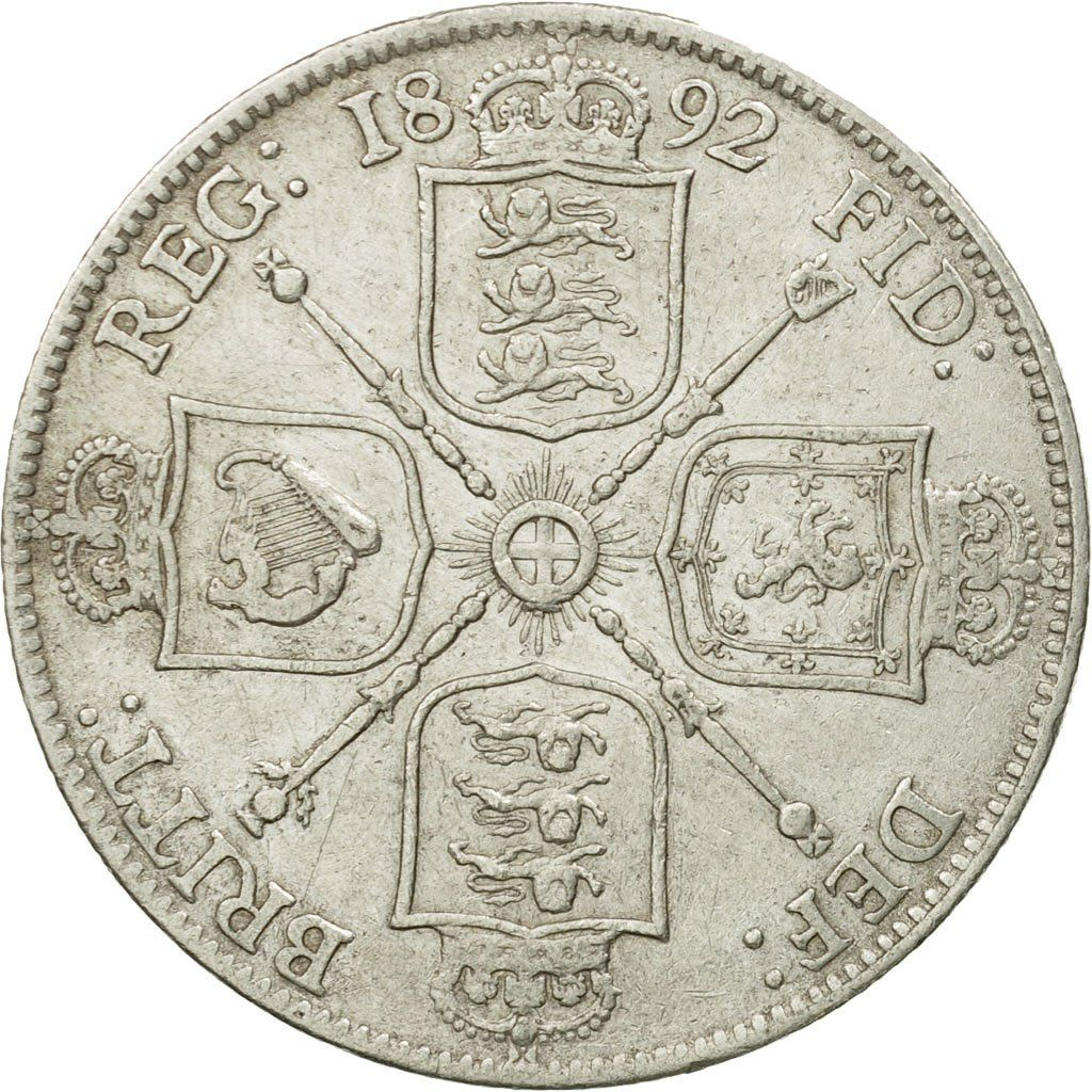 Florin 1892: Photo Coin, Great Britain, Victoria, Florin, Two Shillings, 1892