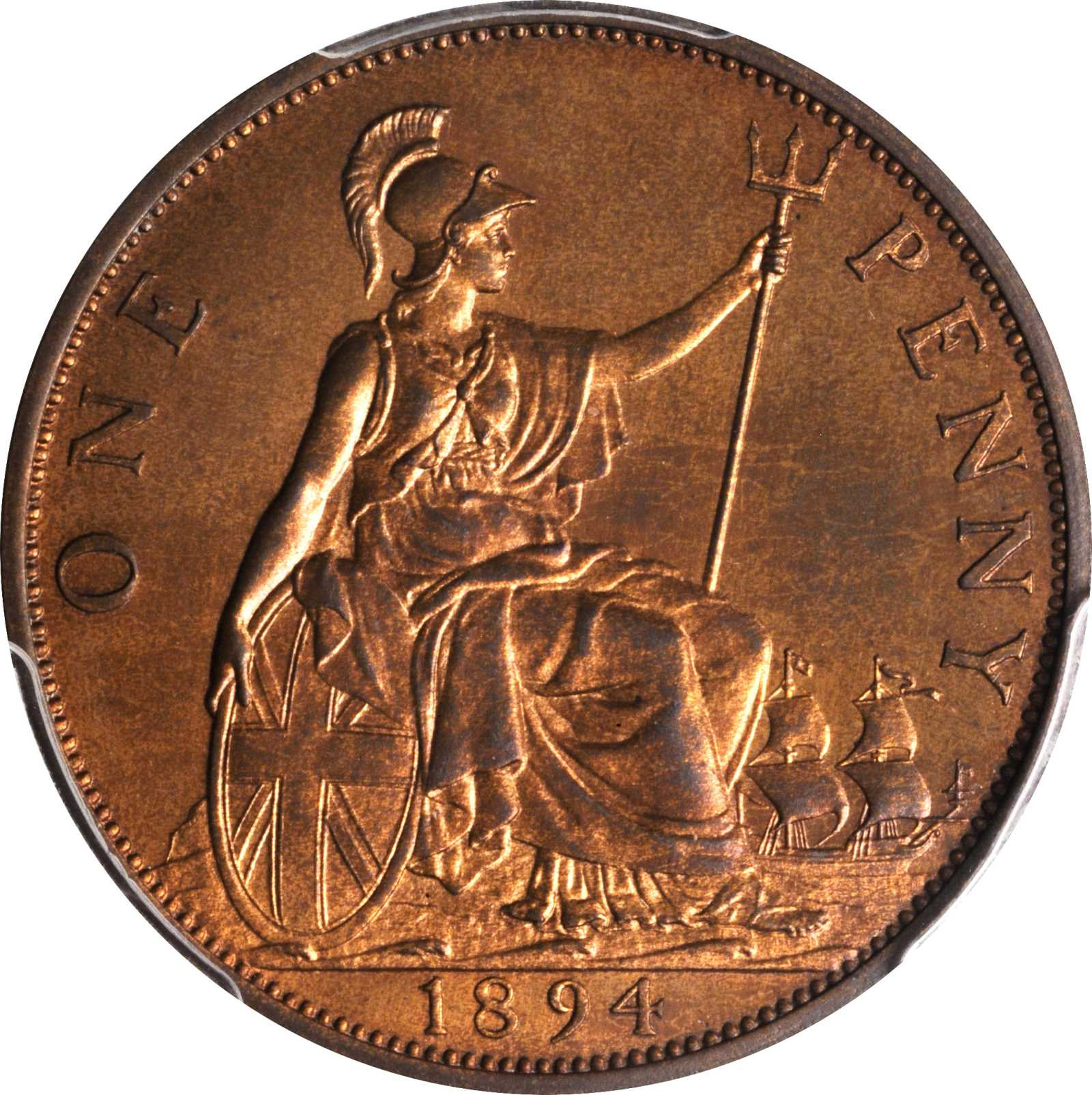Penny (Pre-decimal): Photo Great Britain 1894 penny KM-790
