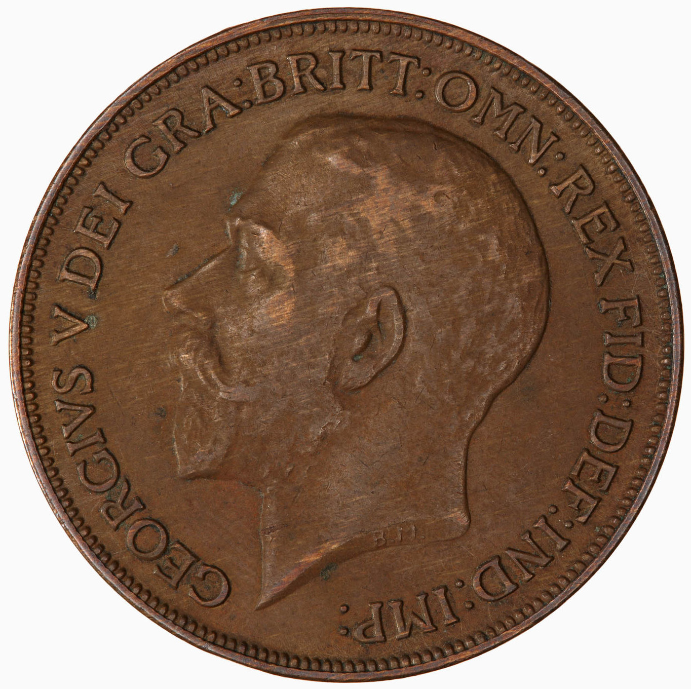 Penny 1920: Photo Coin - Penny, George V, Great Britain, 1920