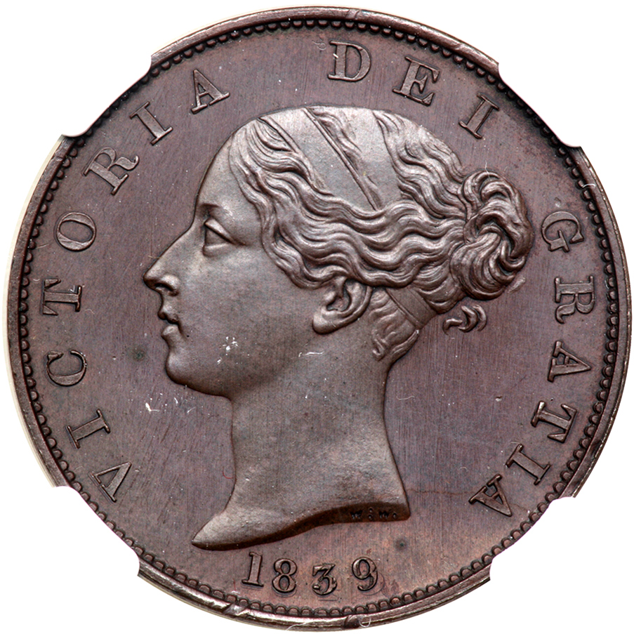 Halfpenny 1839 (Proof only): Photo Great Britain 1839 half penny