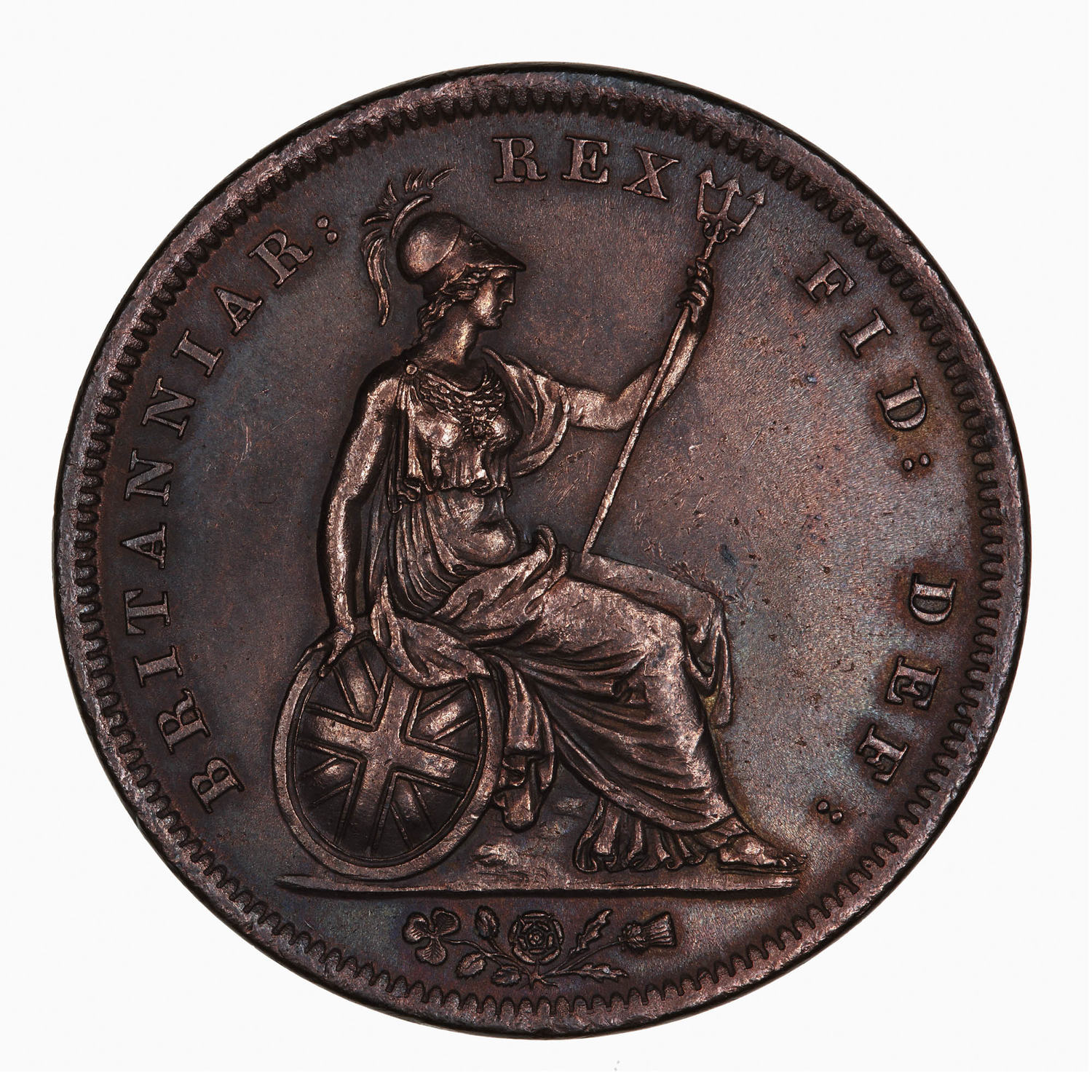 Penny 1826: Photo Coin - 1 Penny, George IV, Great Britain, 1826
