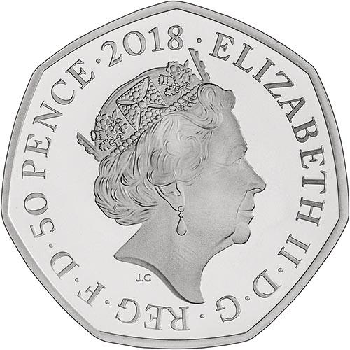 Fifty Pence 2018 Mrs. Tittlemouse: Photo 2018 UK Coin 50p Silver Proof Beatrix Potter - Mrs Tittlemouse