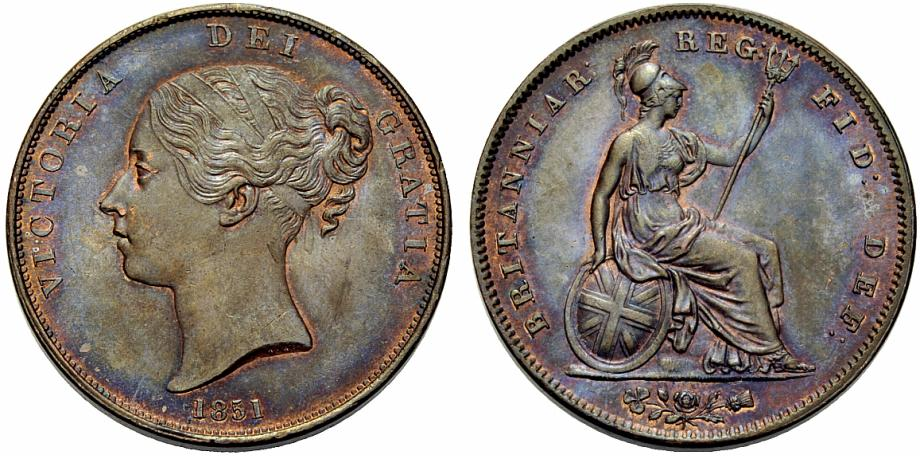 Penny 1851: Photo Great Britain 1851 penny
