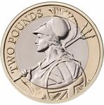 United Kingdom / Two Pounds 2018 Britannia (mint sets only) - reverse photo