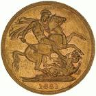 United Kingdom / Sovereign 1881 St George - reverse photo