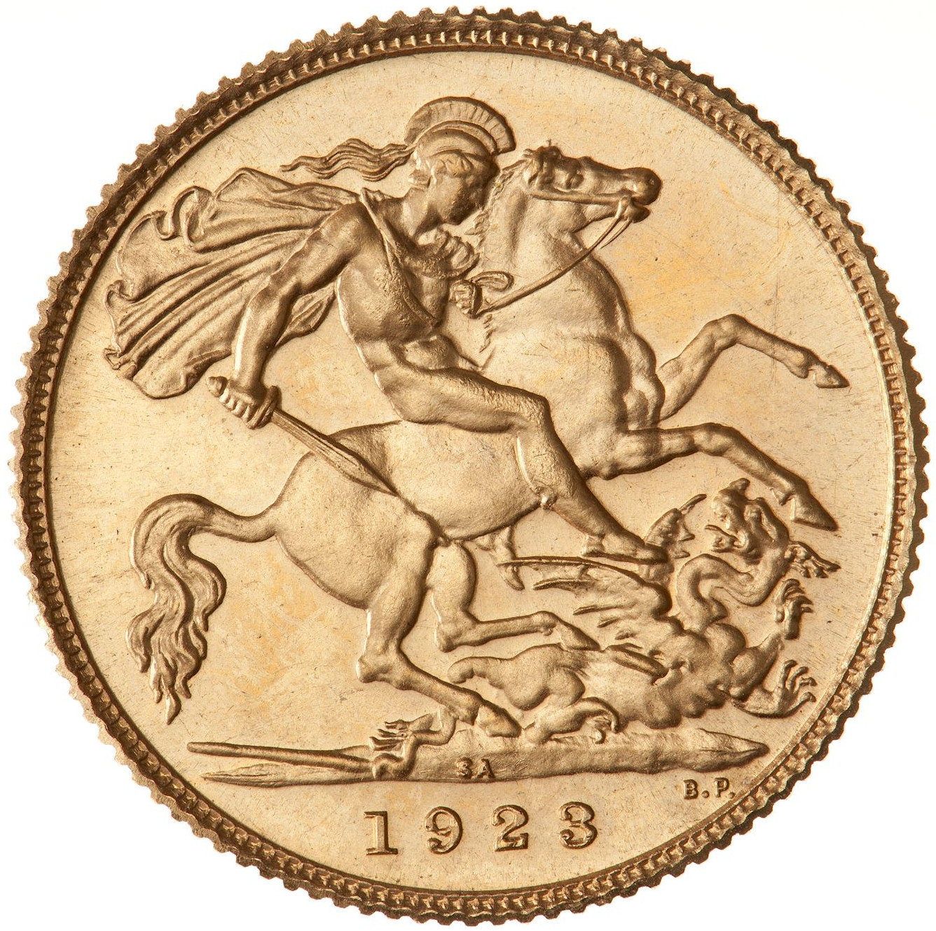 Half Sovereign (Pre-decimal, St George): Photo Proof Coin - 1/2 Sovereign, South Africa, 1923