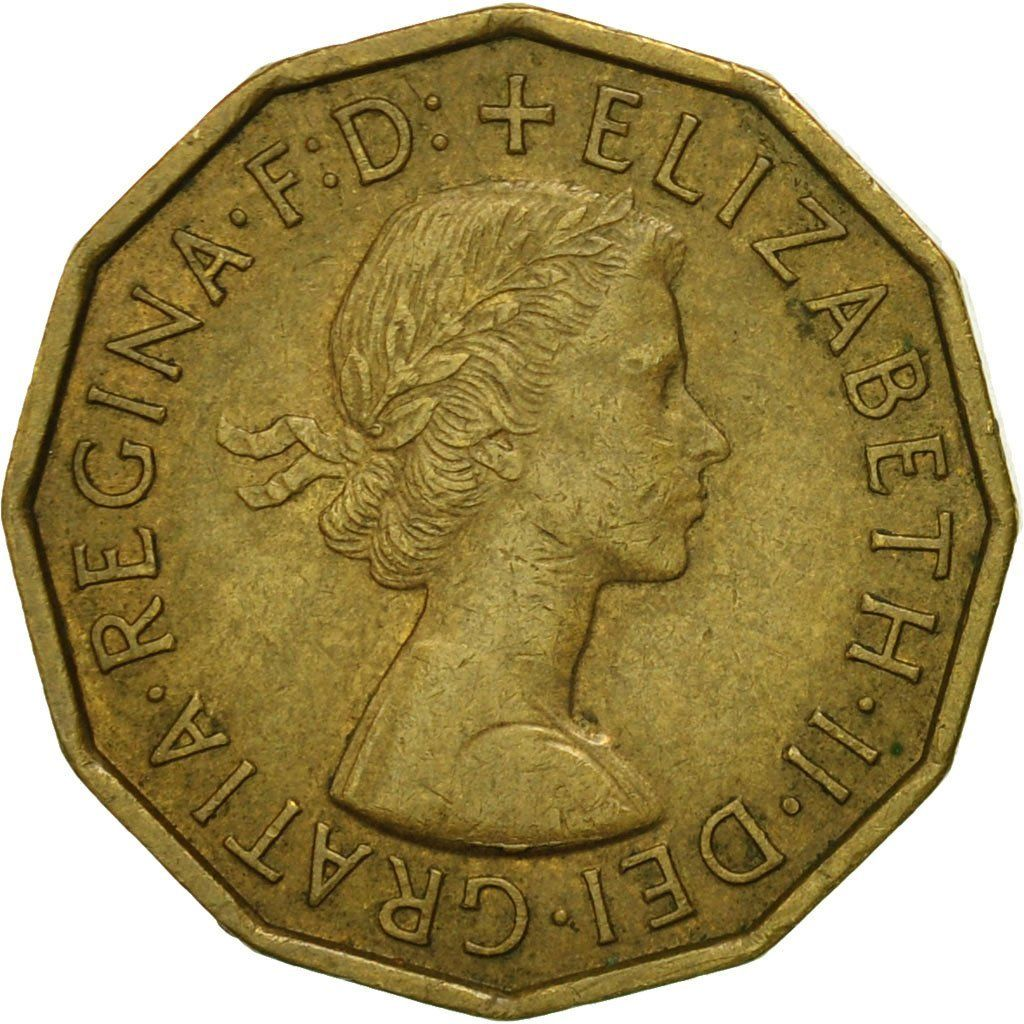 Threepence 1959 (Brass): Photo Coin, Great Britain, Elizabeth II, 3 Pence, 1959