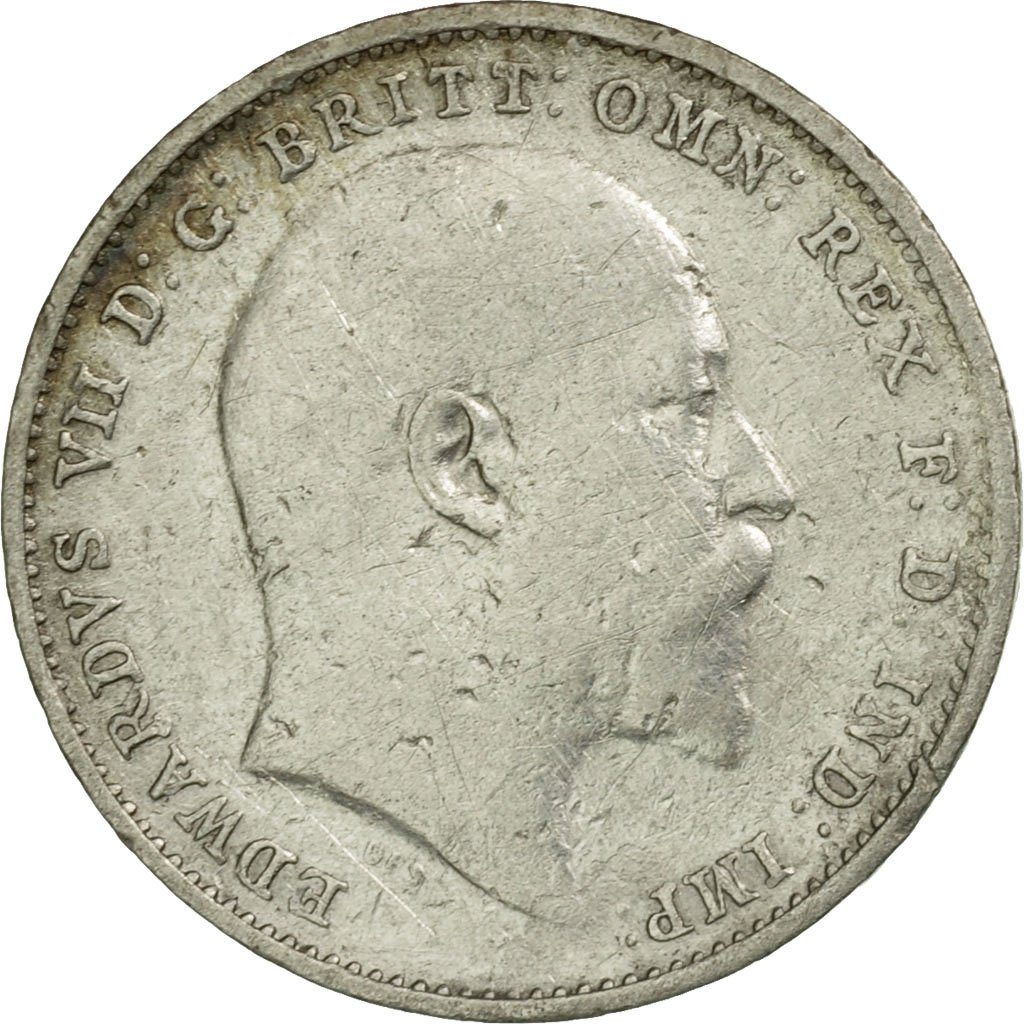 Threepence 1907 (Circulating): Photo Coin, Great Britain, 3 Pence, 1907
