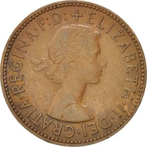 United Kingdom / Halfpenny 1959 - obverse photo