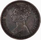 Florin 1872: Photo Coin - Florin, Queen Victoria, Great Britain, 1872