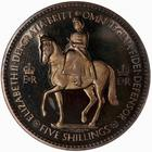 Crown 1953: Photo Proof Coin - Crown, Coronation of Queen Elizabeth II, Great Britain, 1953