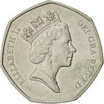 United Kingdom / Fifty Pence 1992 Single Market - obverse photo